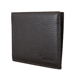 Brown leather bifold wallet a07