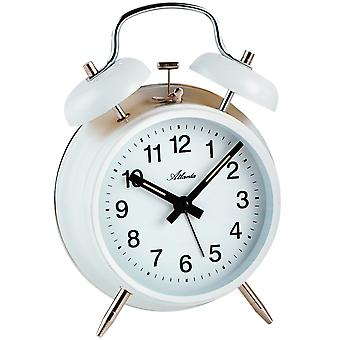 Atlanta 1053/0 of mechanical alarm bell alarm clock twin Bell alarm clock white