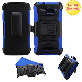 ASMYNA Advanced Armor Stand Case w/Holster for CoolPad Defiant - Black/Blue