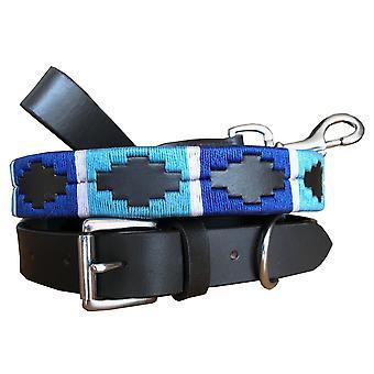 Carlos diaz genuine leather  polo dog collar and lead set cdhkplc30