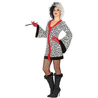 Kvinder kostumer kvinder sexet Cruella kjole med Dalmatian print