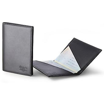 Men's Black Italian Leather Passport Holder