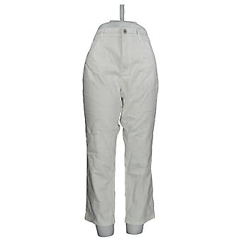 Denim & Co. Women's Petite Classic Denim Ankle Jeans White A304477 PTC
