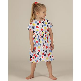 The Essential One Girls Blinky Bunny Cold Shoulder Polka Dot Dress