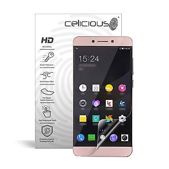 Celicious Vivid Invisible Glossy HD Screen Protector Film Compatible with LeEco Le 2 Pro [Pack of 2]