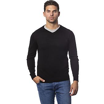Rich John Richmond Black Sweater -- RI81885104