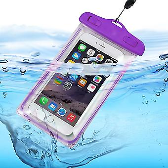 Huawei Y8s (Purple) Waterproof Touchscreen Dry Bag Phone Case Cover Protection