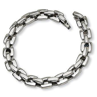 Rustfrit stål Fold over poleret armbånd 9 tommer smykker gaver til kvinder