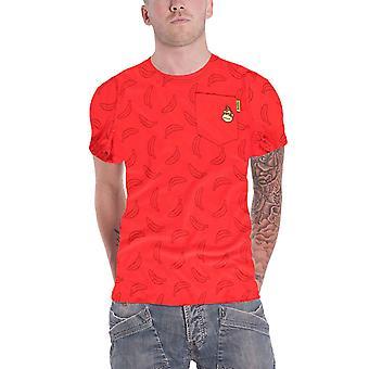 Donkey Kong T Shirt Bananes All Over Print nouveau officiel Mens Red