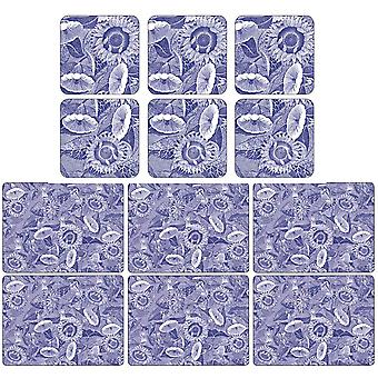 Pimpernel Blue Room Placemats and Coasters