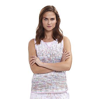 Féraud 3191267-16371 Mulheres's Casual Chic Branco Multicolor Stripe Cotton Pyjama Top
