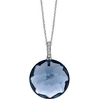 Ti Sento 6758DB - pendant silver round blue woman pendant