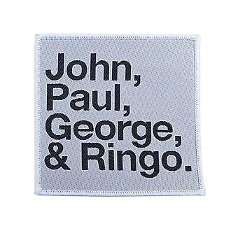 De Beatles patch John Paul George Ringo nieuwe officiële geborduurd opstrijkbare