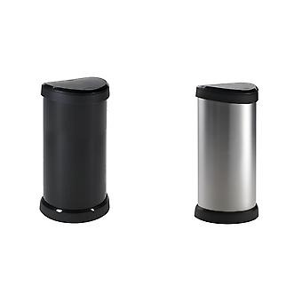 Curver One Touch Deco Bin