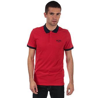 Män & apos; s Jack Jones Tony Polo Shirt i rött