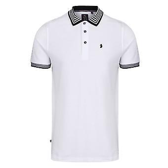 Luke | M531403 Round The Corner Striped Collar Polo T-shirt