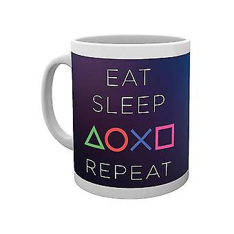 PlayStation, Mug - Eat Sleep Repeat