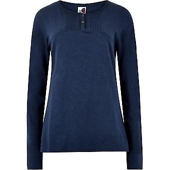 Weird Fish Women's Mae Long Sleeve T-Shirt Blue