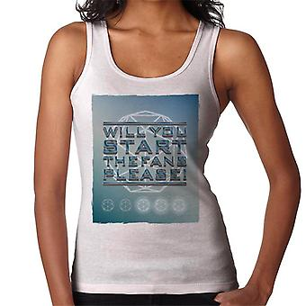 The Crystal Maze Will You Start The Fans Please Tonal Women's Vest