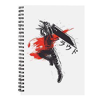 Tradicional Soldier Cloud Final Fantasy VII Spiral Notebook
