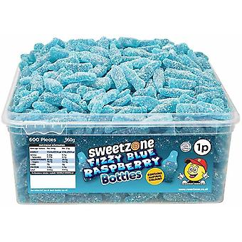 SweetZone Fizzy Blue Rspberry Bottles (600) pieces 960g