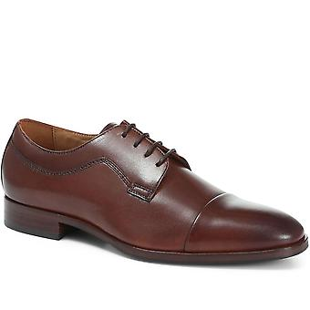Jones Bootmaker Mens Memphis Sapatos de Derby de Couro