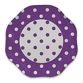 Lilac Polka Dots 1.2 x 5m Damask Tablecover Party Decoration