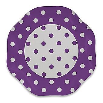Flieder Polka Dots 1,2 x 5m Damast Tischdecker Party Dekoration