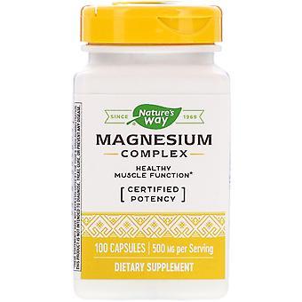 Nature's Way, Magnesium Complex, 500 mg, 100 Capsules