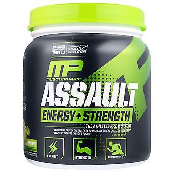MusclePharm, Assault, Energy + Strength, Pre-Workout, Green Apple, 0.73 lbs (333