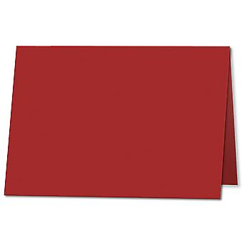 Chilli Red. 105mm x 148mm. A7 (Long Edge). 235gsm Folded Card Blank.
