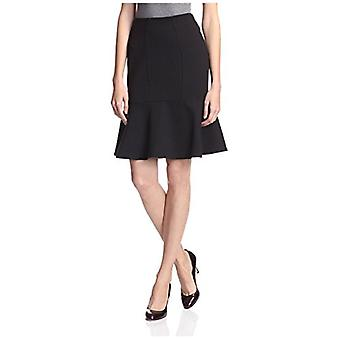 SOCIETY NEW YORK Women's Peplum Skirt, Black, L
