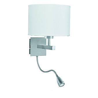 Dual Flexi Arm 1 Licht Binnenwand licht satijn zilver, E27