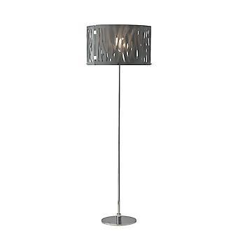 1 lichte vloerlamp chroom, rokerig, E27