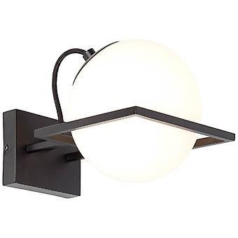 BRILLIANT Lampe Patsy Wandleuchte schwarz/weiß   1x D45, E14, 28W, geeignet für Tropfenlampen (nicht enthalten)   Skala