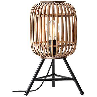Lampada BRILLIANT Woodrow Lampada da tavolo Marrone chiaro | 1x A60, E27, 60W, g.f. lampade normali n. ent. | Con interruttore di interscambio cavi
