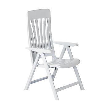 Resol Blanes Garden Sun Lounger Chair - Zero Gravity Folding Reclining Outdoor Furniture - White