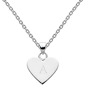 Dew Sterling Silver Dinky Heart Alphabet Pendant 9091HPA013