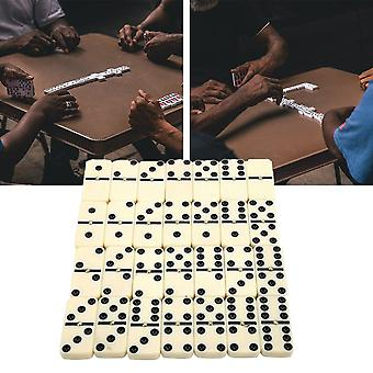 28pcs Travel Portable Dot Double Six Dominoes Set- Entertainment Chess Game