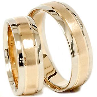 الذهب مطابقة له اثنين من لهجة خاتم الزفاف مجموعة مجموعة