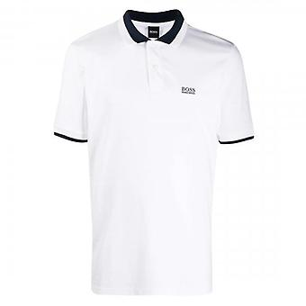 Boss Green Hugo Boss Parlay 88 Short Sleeve Polo White 50436314