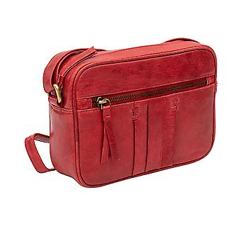 Primehide Womens Leather Handbag Small Crossbody Shoulder Bag 361