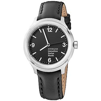 Mon helvetica n1 bold 34 watch for Swiss Quartz Analog Woman with Cowhide Bracelet MH1. B3120.LB