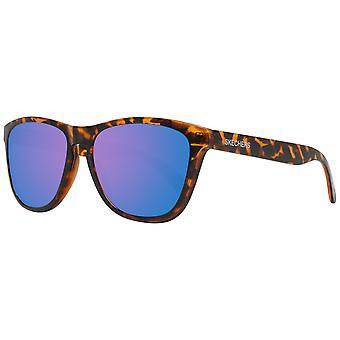 Brązowe męskie okulary przeciwsłoneczne