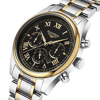 GUANQIN GQ12001 Männer Uhr Luxus Business leuchtende männliche Quarz Armbanduhr