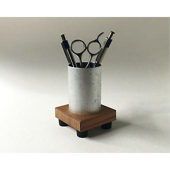 Reclaimed Wood And Recycled Metal Pencil Cup