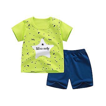 Puuvilla Kesä Vauvan Pehmeä Shortsit Puku T-paita Lapsille