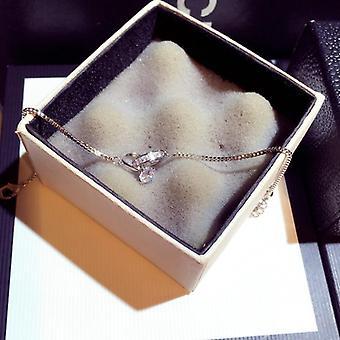 Exquisite Shine Zircon Buckle Women Bracelet