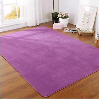 Solid Color, Modern, Thick Carpet For Living Room - Crawling Mats For Home