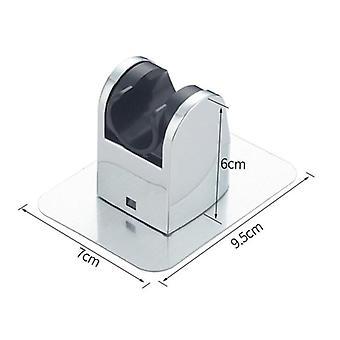 Adjustable Chrome Self-adhesive Shower Head, Bracket Base